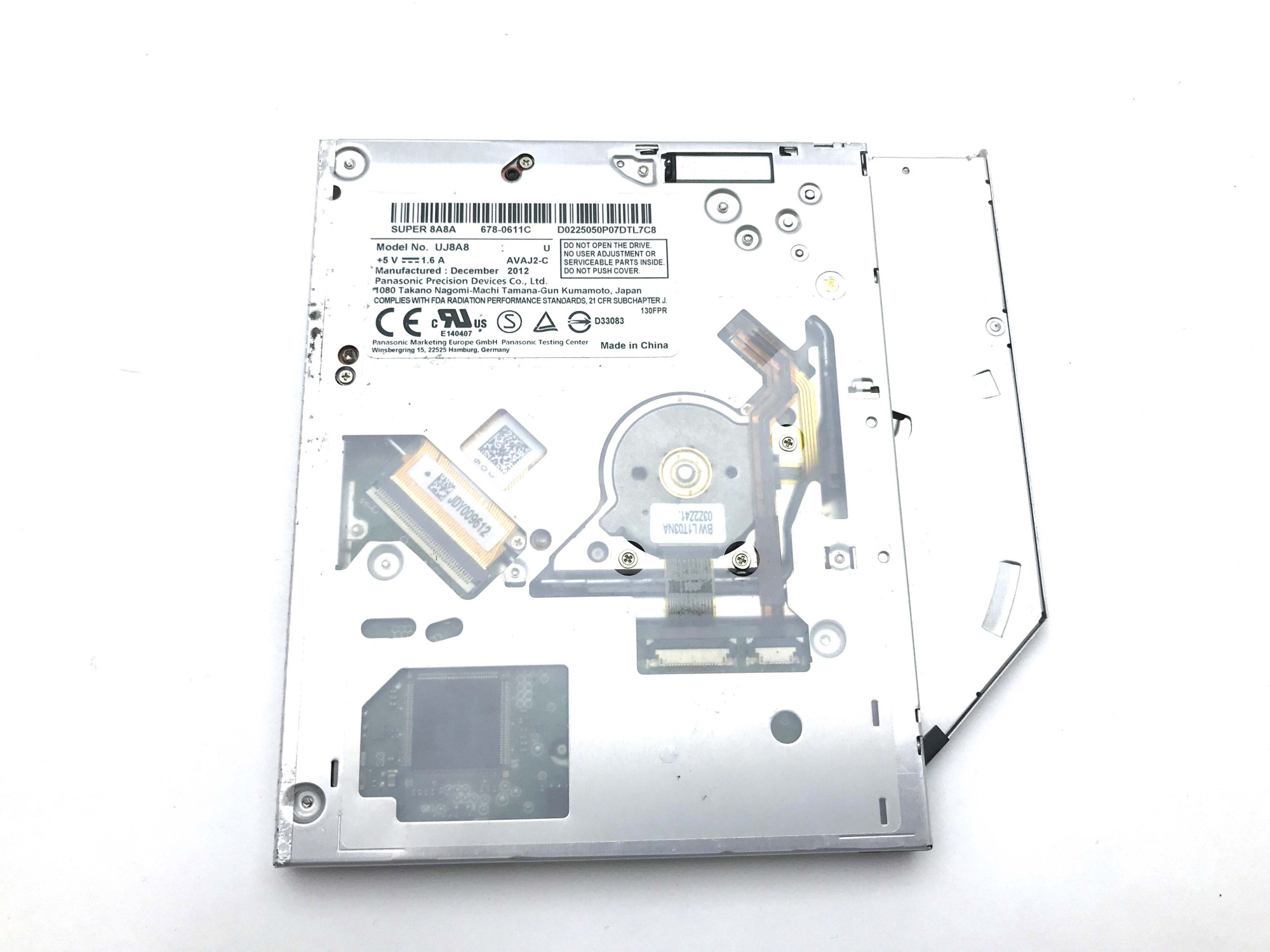 DVD±RW SATA Panasonic (UJ8A8) Super Slim